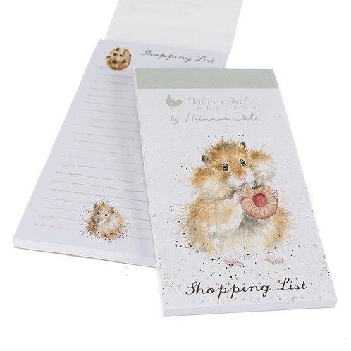 Wrendale Designs Einkaufsblock Hamster