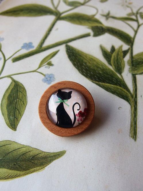 Brosche Katze