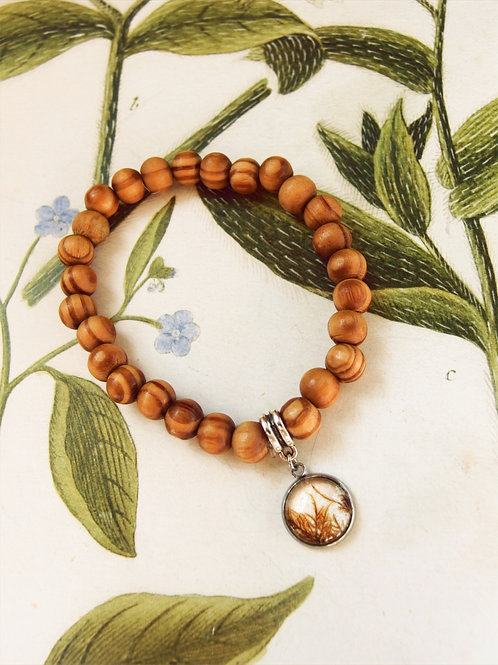 Armband Holz Moos