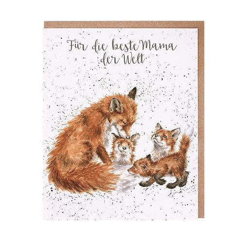 Wrendale Designs Grußkarte Für Mama Füchse