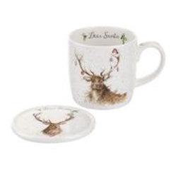Wrendale design Royal Worcester Geschenksset Hirsch Weihnachten