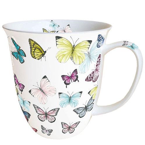 Tasse groß Schmetterlinge
