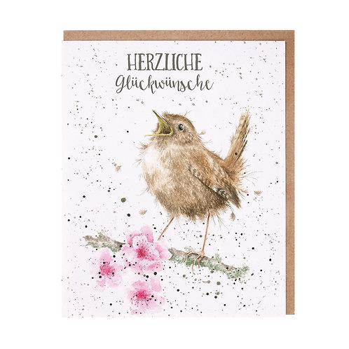 Wrendale Designs Grußkarte Herzliche Glückwünsche