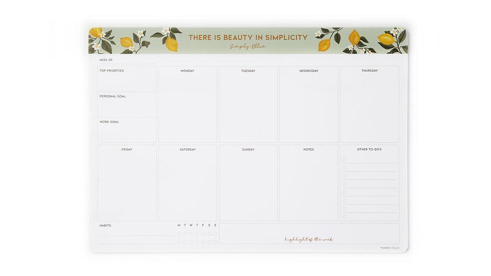 Weekly Desk Planner, Lemon