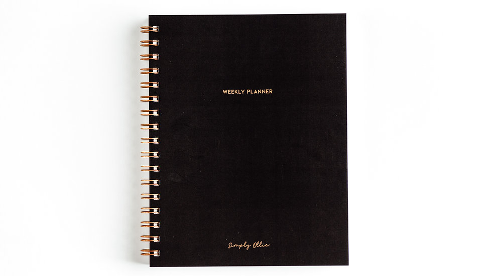 Weekly Planner, Noir