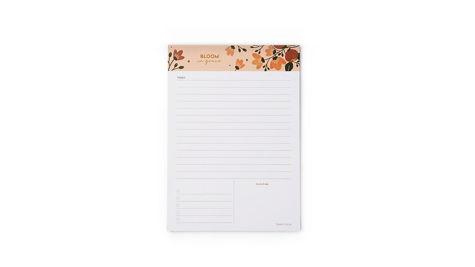 Daily Desk Planner, Bloom