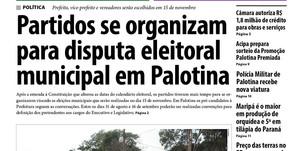 Destaques do jornal Folha de Palotina de 14/08/2020