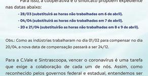 C.Vale vai parar o abate de 6 a 12 abril por conta do coronavírus