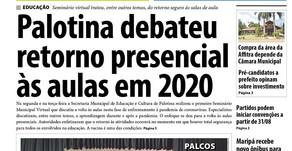 Destaques do jornal Folha de Palotina de 28/08/2020
