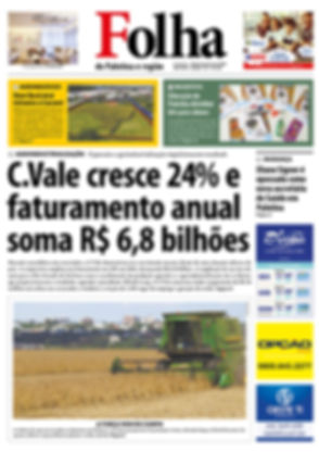 Capa do jornal Folha de Palotina