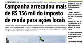 Destaques do jornal Folha de Palotina de 04/09/2020