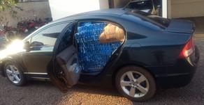 PM de Maripá apreende veículo com cigarros e motorista algemado conseguiu fugir do Destacamento