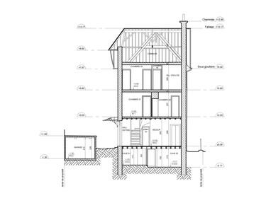 Coupe Maison 2D L3 Relevé 3D