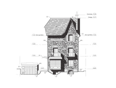 Façade Maison 2D LOD3 Archiscan
