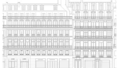 Immeuble Haussmannien Paris LOD400