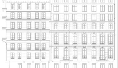 Immeuble Haussmannien Paris LOD4