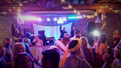Gary DJ waving across crowd