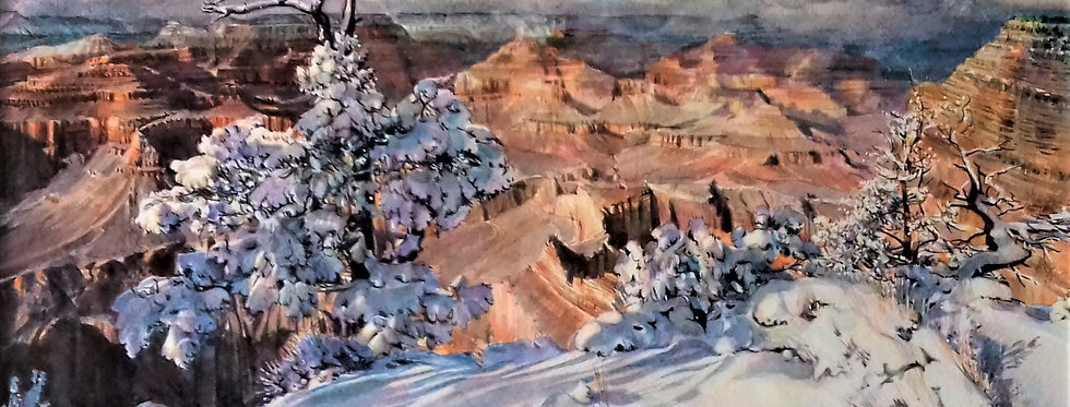 """Grand Canyon sous la neige """