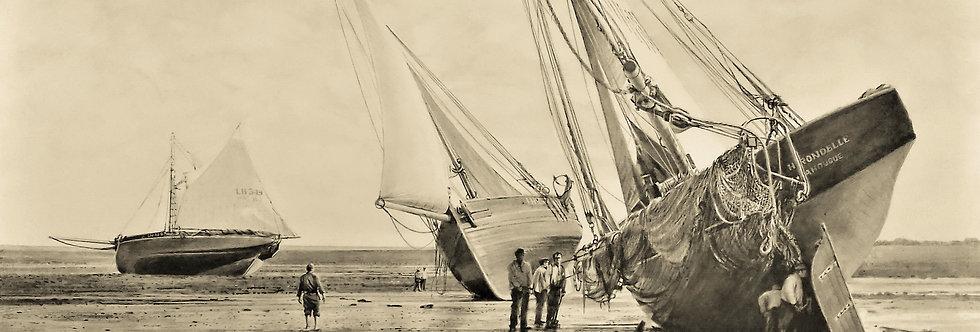 """Grandcamp les Bains  """"marée basse ( vers 1900 )"""""""