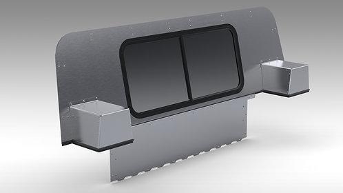 Humvee Aluminum 2-Piece Rear Curtain