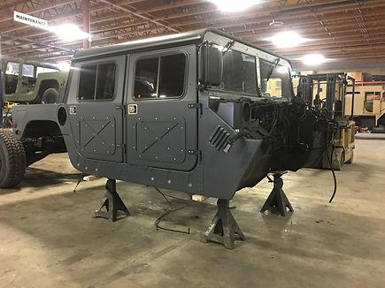 Interior: Humvee® military vehicle seating capacity upgrade.