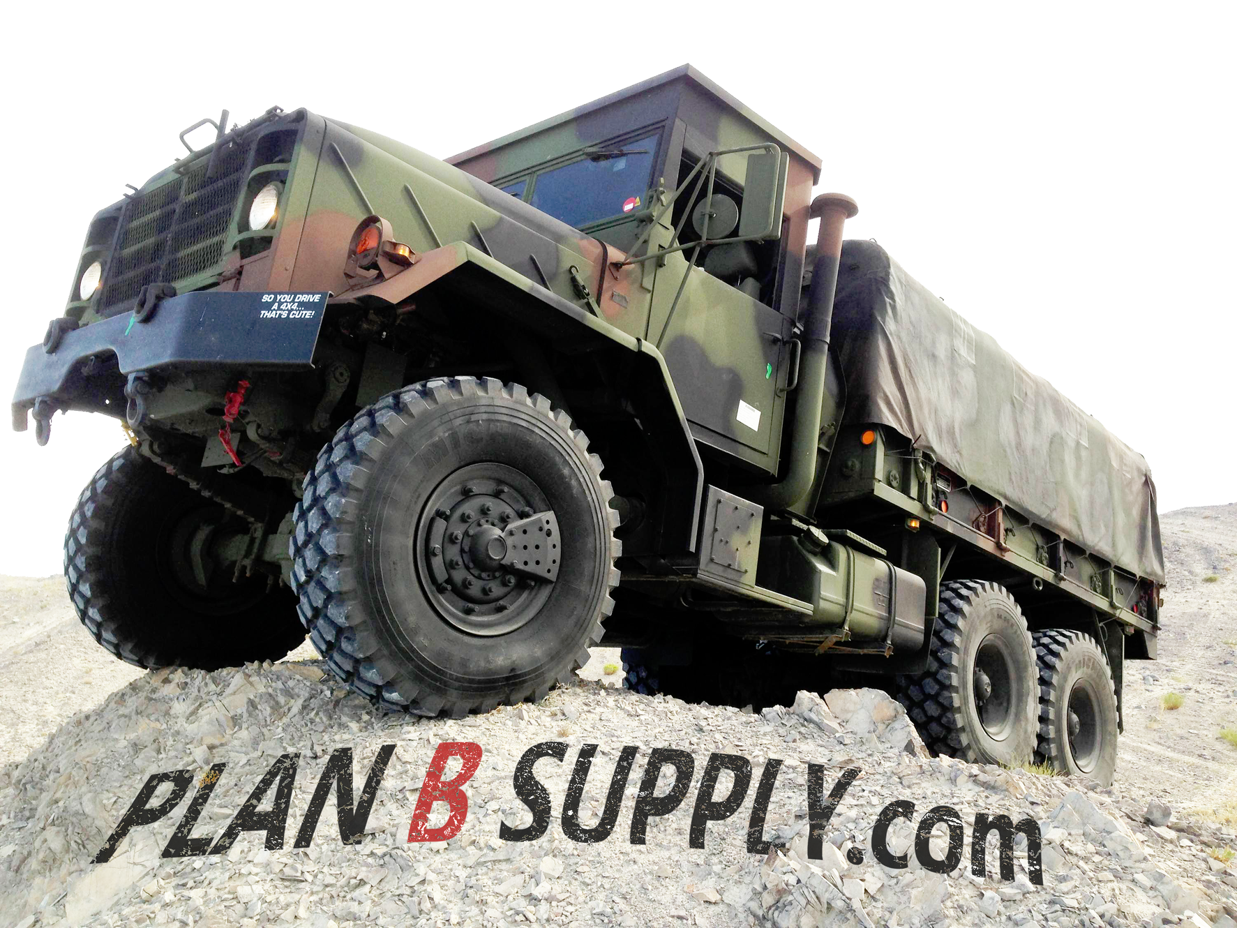 Plan B Supply 6x6 Military Disaster Trucks and Emergency Gear
