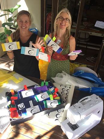 Surf Sock Founders l-r Nadine Cattell an