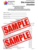 Site inspection checklist