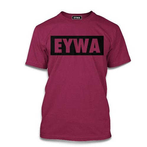 EYWA Burgundy Blackout T-Shirt