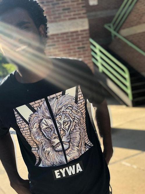 EYWA Golden Lion Black T-Shirt