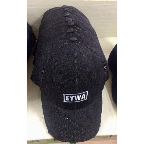 Black EYWA Distressed Demin Cap