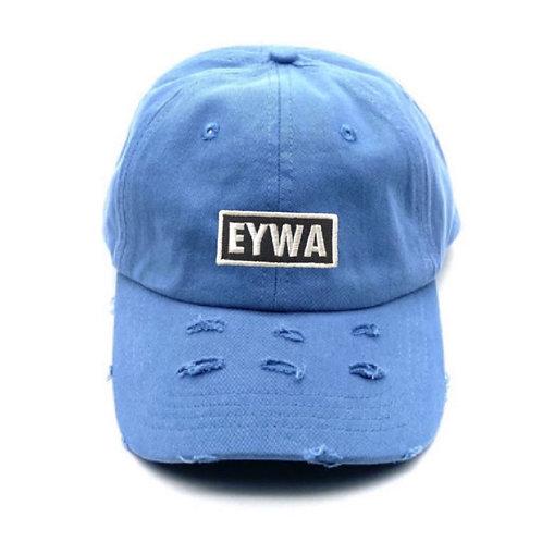 Baby Blue EYWA Distressed Denim Cap