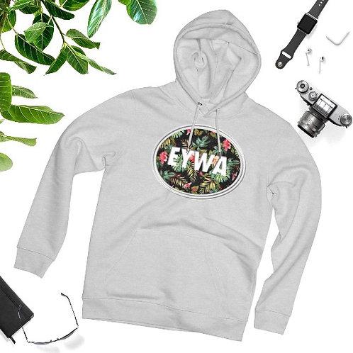Grey EYWA Floral Hoodie