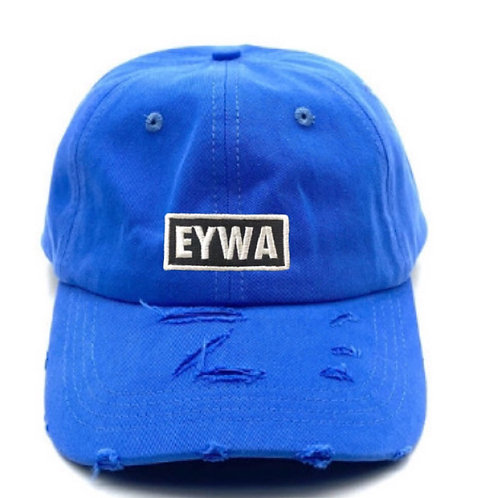 Blue EYWA Distressed Denim Cap