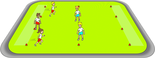bull rush PE sports game gross motor, movements, co-ordination, elementary, school, class, exercise