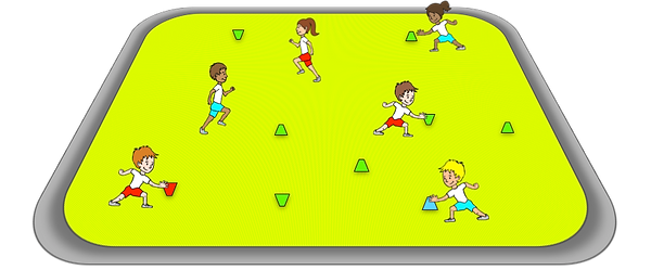 Volcanoes and ice cream cones, Prime Coaching sport PE sport warm up games, grades 3-6 ideas, sports teaching warm ups, warm up ideas for kids, fun warm ups, free warm ups,