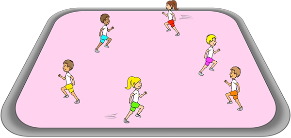 PE sport teaching games, tag, gross motor, movements, co-ordination, elementary, school, class, exercise