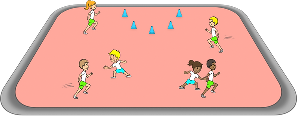 cops and robbers free game ideas gross motor, movements, co-ordination, elementary, school, class, exercise