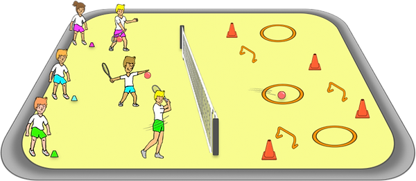 knock the towers PE game ideas, gross motor, movements, co-ordination, elementary, school, class, exercise