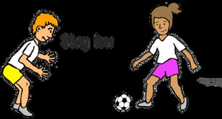 defending soccer skills, how to teach soccer, soccer skills ideas for kids, PE soccer ideas, pe physcial education grade 1 kindergarten sport teaching lesson plans how to