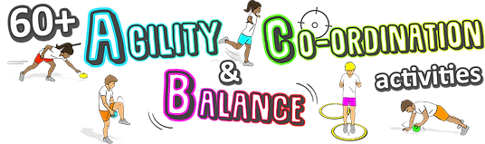agilitiy balance co-ordination games for kids lessons pe