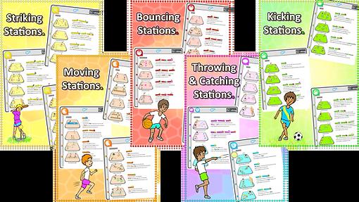 Prime coaching sport station ideas, pe physcial education grade 1 kindergarten sport teaching lesson plans how to