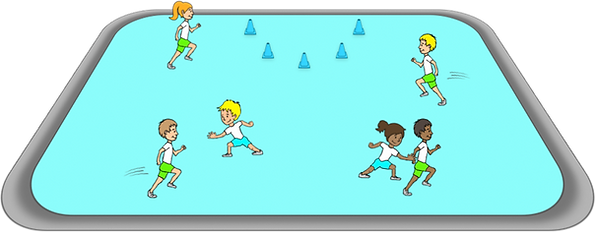 Waspital PE game, gross motor, movements, co-ordination, elementary, school, class, exercise