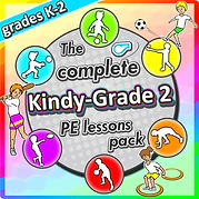kindergarten PE games sport lesson plans kids physical education soccer basketball tennis football baseball skills