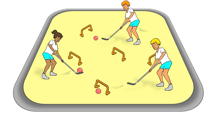 hockey lessons, how to teach hockey, pe physcial education grade 1 kindergarten sport teaching lesson plans how to