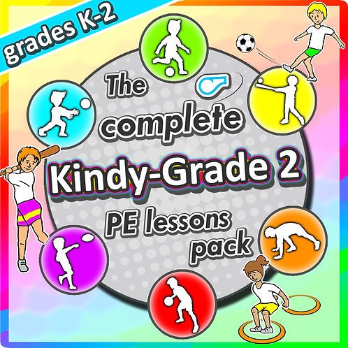 Kindergarten to Grade 2 PE Games - Complete Sport Skill and Games Pack