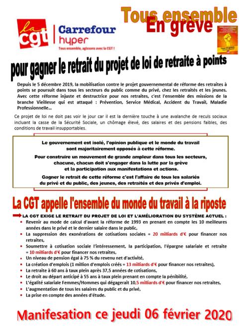 Manifestation ce jeudi 06 février 2020 à 11h30 départ de la manufacture des tabacs pour  le retrait