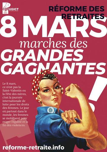 En ce 8 mars 2020, journée internationale de lutte pour les droits des femmes