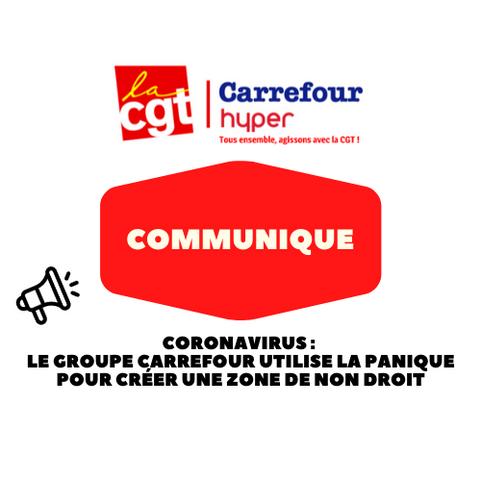 CORONAVIRUS : Le Groupe Carrefour utilise la panique pour créer une zone de non droit