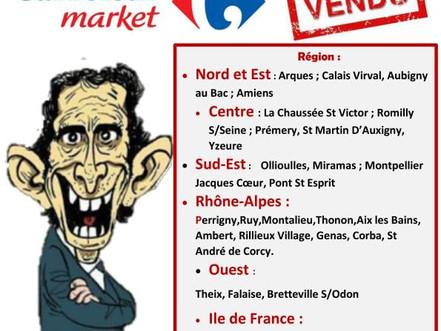 34 carerfour market qui vont passés en location gérance -